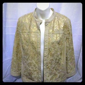Platinum Chico' Beige Jacket w Shimmer Accent sz 1